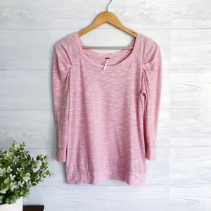 Free People Pink 1/2 Sleeve Comfy Tee Shirt Top